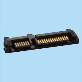 4213 / Conector macho entrada superior 7+15 pines - SERIAL ATA