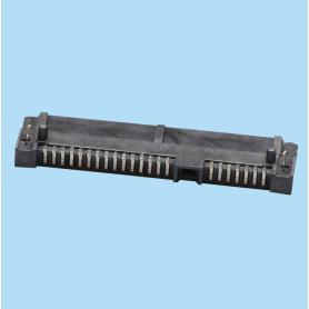 4214 / Conector hembra 7+15 pines - SERIAL ATA