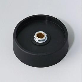 A3150069 / COM-KNOBS 50 - Sin elemento de marcaje - PA 6 - nero - 50x16mm - Orificio de eje 6 mm