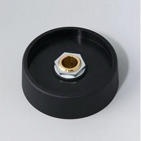 A3150089 / COM-KNOBS 50 - Sin elemento de marcaje - PA 6 - nero - 50x16mm - Orificio de eje 8 mm