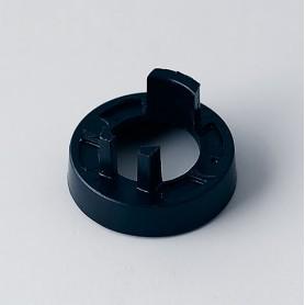 A5116000 / Tapa de tuerca 16 SIN línea - ABS (UL 94 HB) - black RAL 9005