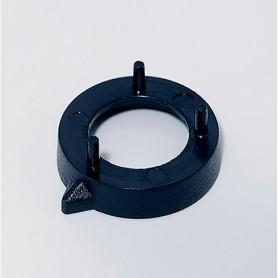 A7616000 / Tapa de tuerca 16 SIN línea - ABS (UL 94 HB) - black RAL 9005