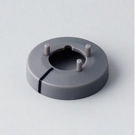 A7510018 / Tapa de tuerca 10 CON línea - ABS (UL 94 HB) - dusty grey RAL 7037