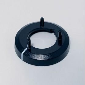 A7516010 / Tapa de tuerca 16 CON línea - ABS (UL 94 HB) - black RAL 9005