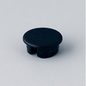 A4110000 / Tapa de botón 10 SIN línea - ABS (UL 94 HB) - black RAL 9005