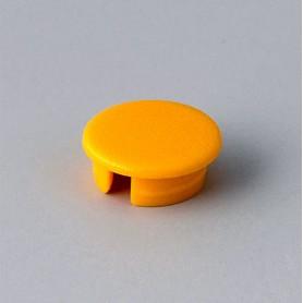 A4110004 / Tapa de botón 10 SIN línea - ABS (UL 94 HB) - yellow RAL F12/0-1