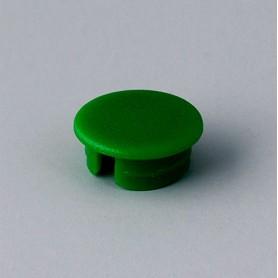 A4110005 / Tapa de botón 10 SIN línea - ABS (UL 94 HB) - green RAL F12/0-43