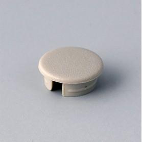 A4110007 / Tapa de botón 10 SIN línea - ABS (UL 94 HB) - pebble grey RAL 7032