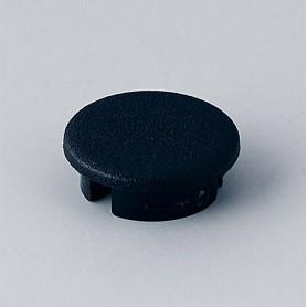 A4113000 / Tapa de botón 13.5 SIN línea - ABS (UL 94 HB) - black RAL 9005