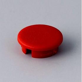 A4113002 / Tapa de botón 13.5 SIN línea - ABS (UL 94 HB) - red RAL F12/0-10