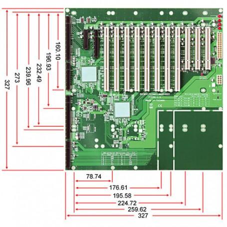 PEBPE-14AD64 / Backplanes PICMG1.3 Server grade - 14-slot [PCIe x4 (1), PCIe x8 (1), PCI-X (8), PCI (3)]