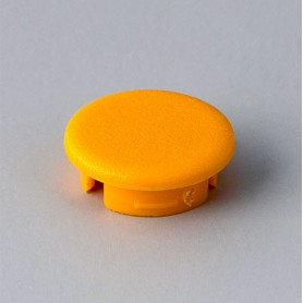 A4113004 / Tapa de botón 13.5 SIN línea - ABS (UL 94 HB) - yellow RAL F12/0-1