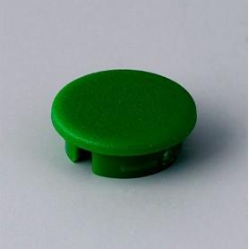 A4113005 / Tapa de botón 13.5 SIN línea - ABS (UL 94 HB) - green RAL F12/0-43