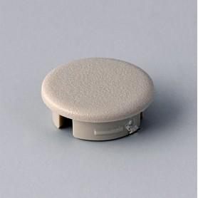 A4113007 / Tapa de botón 13.5 SIN línea - ABS (UL 94 HB) - pebble grey RAL 7032