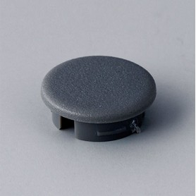 A4113008 / Tapa de botón 13.5 SIN línea - ABS (UL 94 HB) - dusty grey RAL 7037