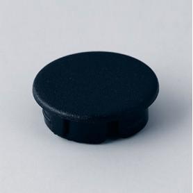 A4116000 / Tapa de botón 16 SIN línea - ABS (UL 94 HB) - black RAL 9005