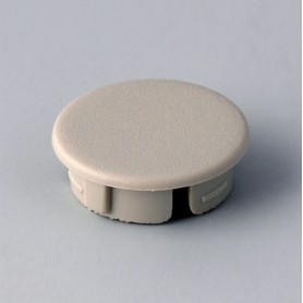A4116007 / Tapa de botón 16 SIN línea - ABS (UL 94 HB) - pebble grey RAL 7032
