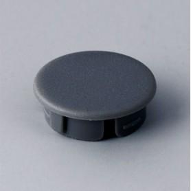 A4116008 / Tapa de botón 16 SIN línea - ABS (UL 94 HB) - dusty grey RAL 7037