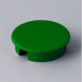 A4120005 / Tapa de botón 20 SIN línea - ABS (UL 94 HB) - green RAL F12/0-43