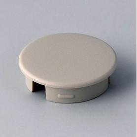 A4120007 / Tapa de botón 20 SIN línea - ABS (UL 94 HB) - pebble grey RAL 7032
