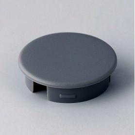 A4120008 / Tapa de botón 20 SIN línea - ABS (UL 94 HB) - dusty grey RAL 7037