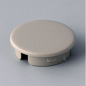 A4123007 / Tapa de botón 23 SIN línea - ABS (UL 94 HB) - pebble grey RAL 7032