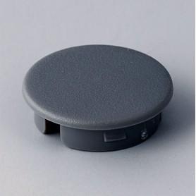 A4123008 / Tapa de botón 23 SIN línea - ABS (UL 94 HB) - dusty grey RAL 7037