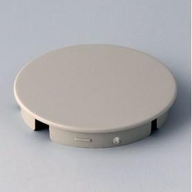 A4140007 / Tapa de botón 40 SIN línea - ABS (UL 94 HB) - pebble grey RAL 7032