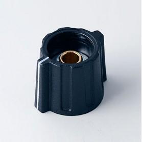 A2816060 / BOTÓN DE MARIPOSA ø 16 CON línea - ABS (UL 94 HB) - black RAL 9005 - 16x15mm - Orificio de eje 6mm