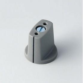 A2416048 / MULETILLA ø 16 CON línea - ABS (UL 94 HB) - dusty grey RAL 7037 - 16x16mm - Orificio de eje 4mm
