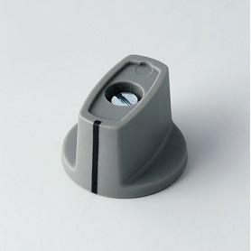 A2423068 / MULETILLA ø 23 CON línea - ABS (UL 94 HB) - dusty grey RAL 7037 - 23x16mm - Orificio de eje 6mm