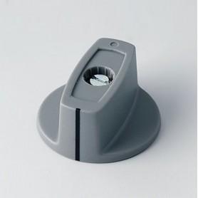 A2431068 / MULETILLA ø 31 CON línea ABS - (UL 94 HB) - dusty grey RAL 7037 - 31x16mm - Orificio de eje 6mm