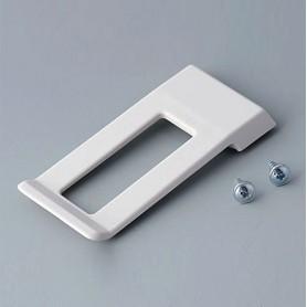 A9172107 / Clip de cinturón-bolsillo - ABS (UL 94 HB) - off-white RAL 9002 - 62x30mm