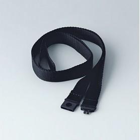 B9100053 / Correa de transporte textil - black - 900x15mm