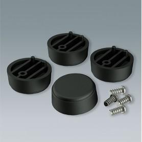 A9257409 / Funda protectora para pie: Vers. I - ABS (UL 94 HB) - black RAL 9005 - ⌀30x12mm