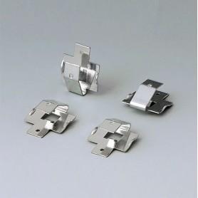 A9161002 / Set de clips de batería: 2 x 9 V or 4 x AA - Acero - tin-plated