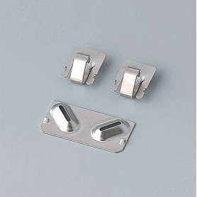 A9190003 / Set de clips de batería: 2xN/2xAA/2xAAA - Acero -  nickel-plated