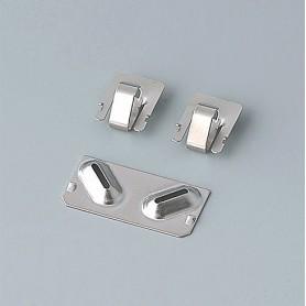 A9190003 / Set de clips de batería: 2xN/2xAA/2xAAA - Acero -  nickel-plated