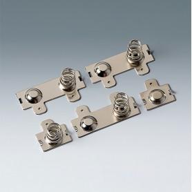 A9190010 / Set de clips de batería: 4 x AA - Acero - nickel-plated