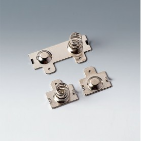 A9190011 / Set de clips de batería: 2 x AA - Acero - nickel-plated