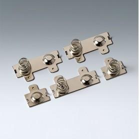A9190013 / Set de clips de batería: 4 x AA - Acero - nickel-plated