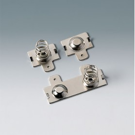A9190014 / Set de clips de batería: 2 x AA - Acero - nickel-plated