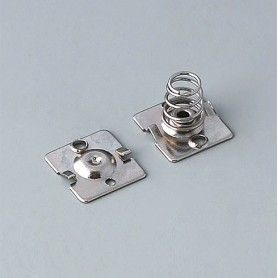 A9190015 / Set de clips de batería: 2 x AA - Acero - nickel-plated