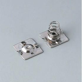 A9190015 / Set de clips de batería: 2 x AA - Acero - nickel-plated