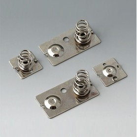 A9190023 / Set de clips de batería: 3 x AA - Acero - nickel-plated