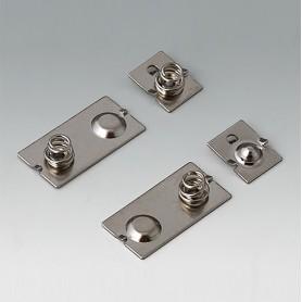 A9190024 / Set de clips de batería: 3 x AAA - Acero - nickel-plated