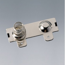 A9193013 / Clips de batería: doble contacto - Acero - nickel-plated