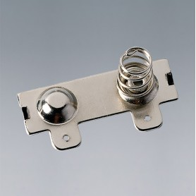A9193014 / Clips de batería: doble contacto - Acero - nickel-plated