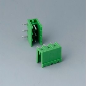 B6600222 / Cabezal de enchufe: bloque 5.08 - PA 68 (UL 94 V-0)