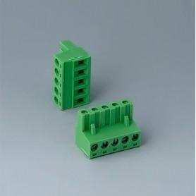 B6601223 / Cabezal de enchufe: bloque 5.08 - PA 6 (UL 94 V-0)